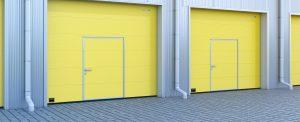 Желтые ворота для гаража